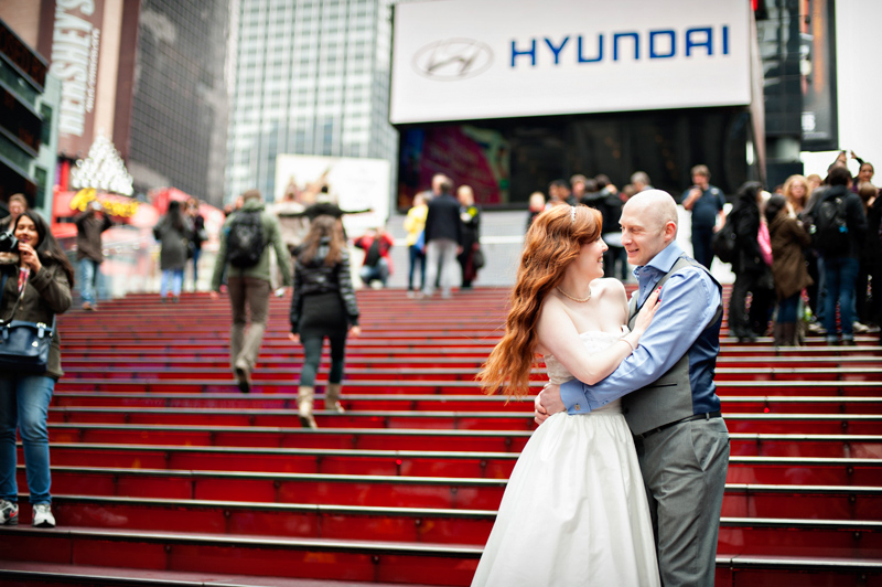 Times Square Wedding Photo