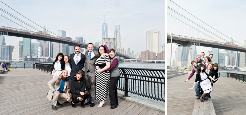 Wedding Party at Brooklyn Bridge Park