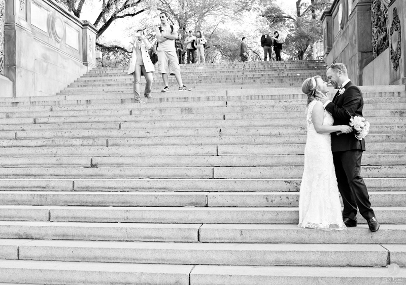 NYC Wedding Photos in Black and White