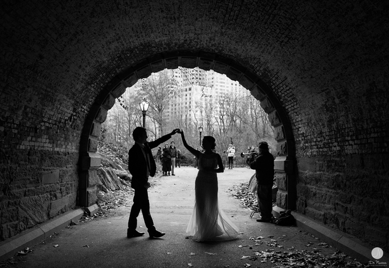 Central Park Elopement Black and White