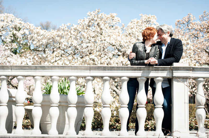 Brooklyn Botanic Garden Engagement Photographer