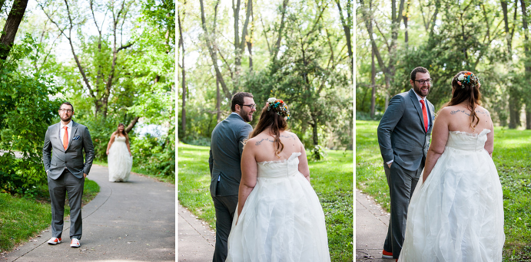 First Look Bride and Groom