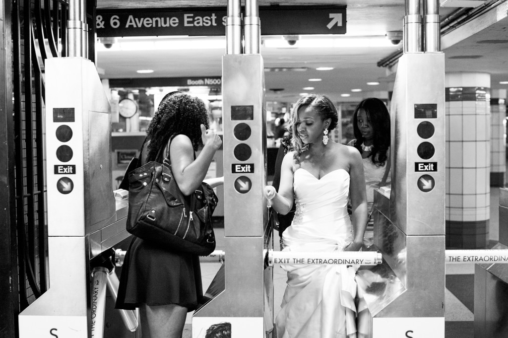 NYC Subway Weding Photos