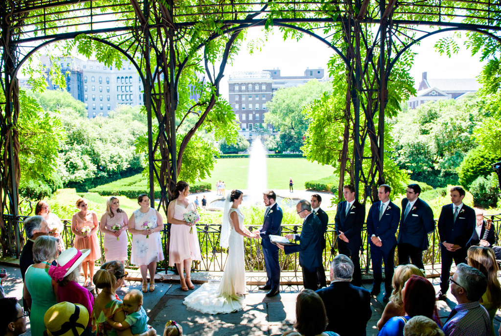 Captivating P I N I T Conservatory Garden Wedding Central Park