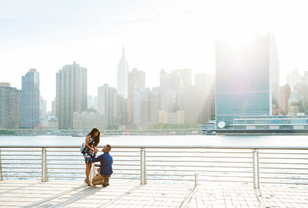 Nyc Surprise Marriage Proposal At Gantry Park Proposal Photographer