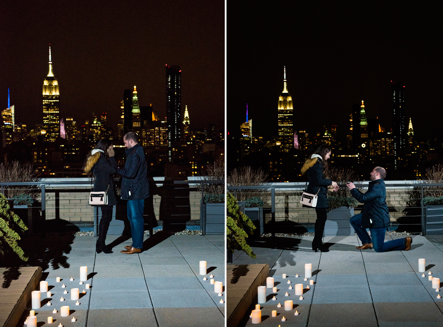 Romantic Rooftop Proposal In Nyc Ny Proposal Photographer