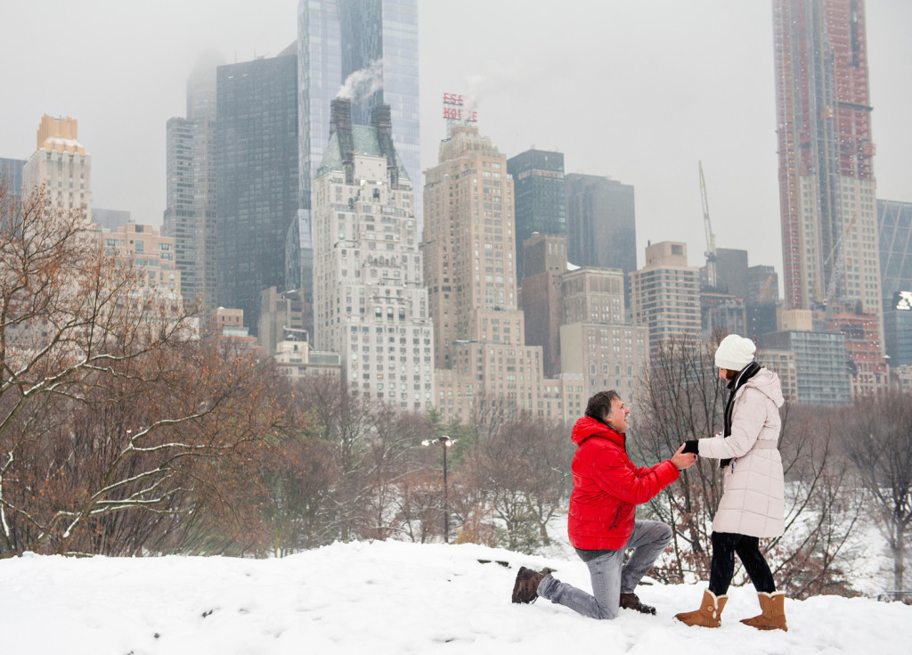 Snowy Central Park Proposal Nyc Proposal Photographer