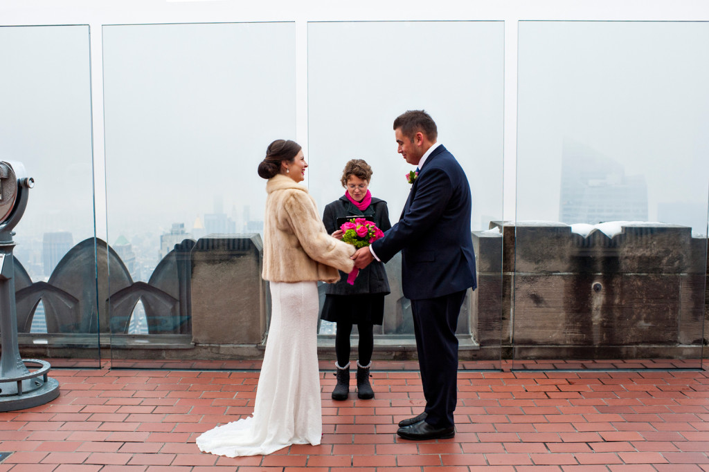Wedding at Top of the Rock