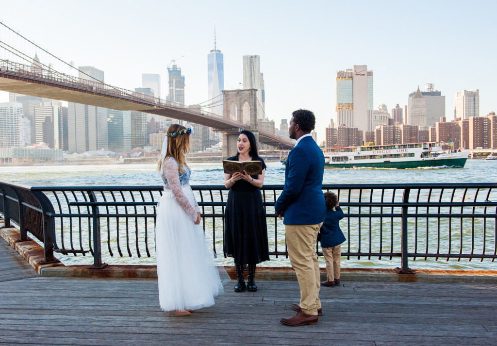NYC Elopement Wedding at Brooklyn Bridge Park