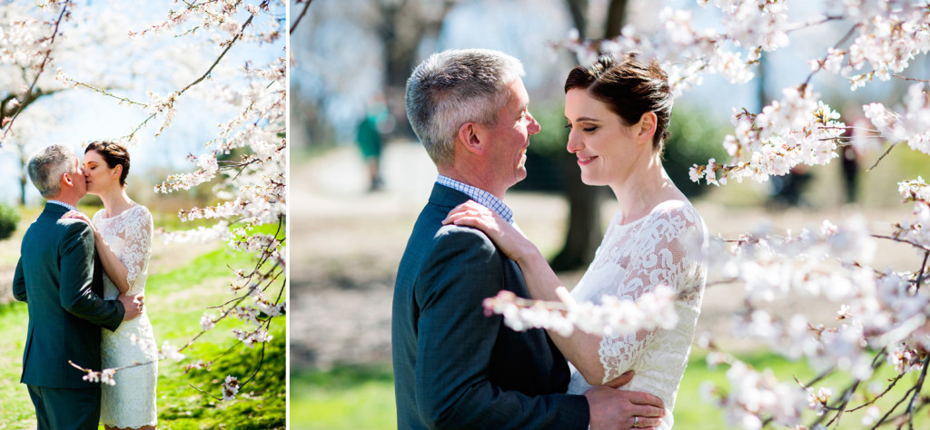 Cherry blossom Wedding Photos NYC