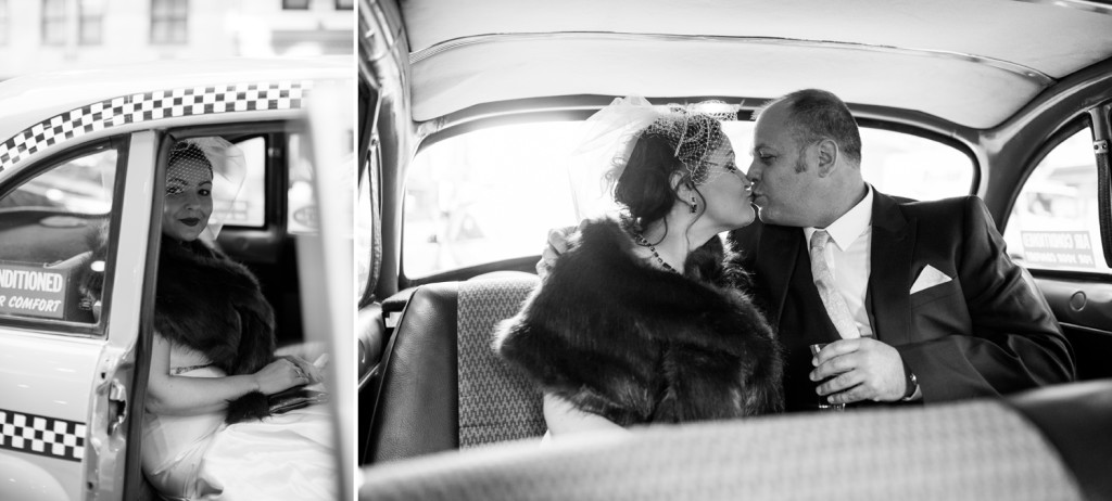 Classic Cab Wedding in NYC
