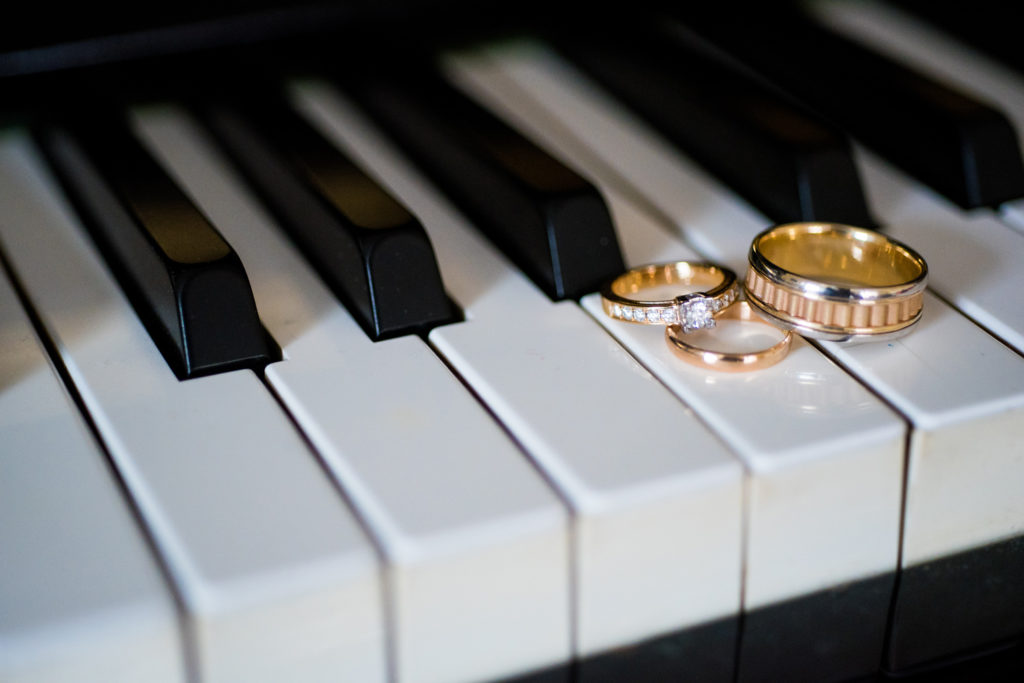 Wedding Rings with Piano