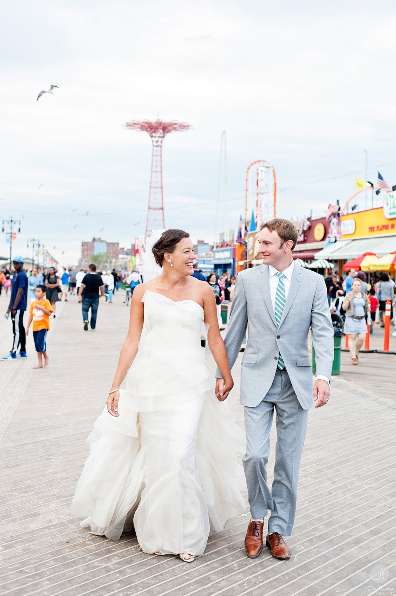 Lauren Jordan Coney Island Wedding Photos Brooklyn Photographer